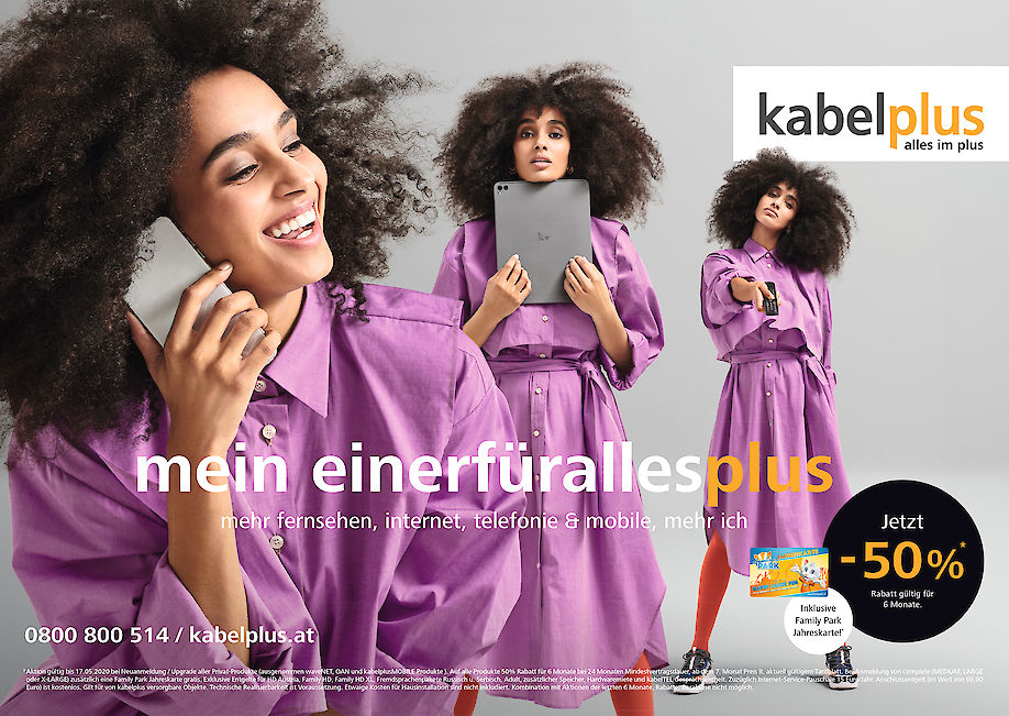 RAPHAEL JUST shoots the campaign for KABELPLUS