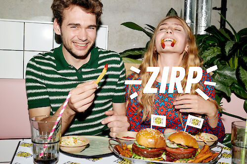 RAPHAEL JUST shoots the campaign for ZIRP insect, eat for future Burger